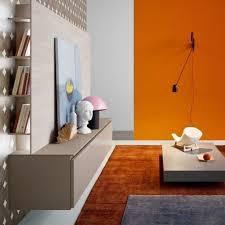 Wohnzimmer Design Wandgestaltung Gemütliche Innenarchitektur Wohnzimmer Wandgestaltung Orange