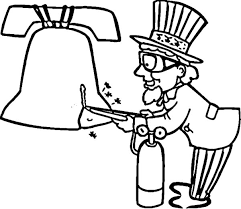 uncle sam fix liberty bell coloring pages batch coloring