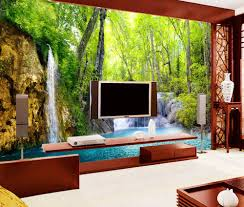 online get cheap waterfall wall murals aliexpress com alibaba group custom modern wallpaper 3d stereoscopic waterfall scenery wall murals for living room bedroom 3d photo wallpaper