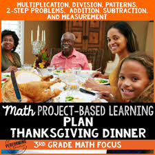 3rd grade thanksgiving math project based learning multiplication