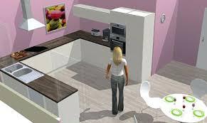 simulation cuisine amenagee cuisine acquipace bois blanc a cuisine