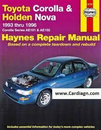 how to download repair manuals 2000 toyota corolla navigation system toyota corolla holden nova haynes owners service repair manual