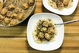 turkey and mushroom gravy recipe turkey meatballs in creamy mushroom gravy