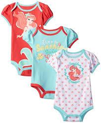 Baby Clothes Target Online Amazon Com Disney Baby Girls U0027 The Little Mermaid Ariel Bodysuit
