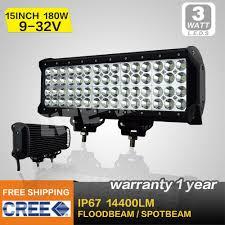 Waterproof Led Light Bar 12v by 15inch 180w Cree Led Light Bar 12v Led Driving Light Combo For