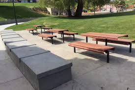 Park Bench And Table Dolores Park Children U0027s Picnic Areas San Francisco Recreation