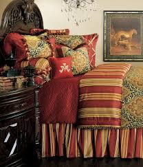 nobel philippe bed set one u0027s nest custom burgundy red gold damask