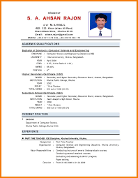Bio Data Resume Sample Sample Resume Bio Data Click On The Image Below To Download The