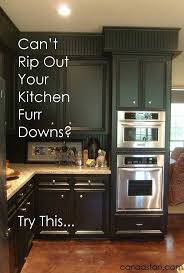 Black Cabinets Kitchen Best 25 Kitchen Soffit Ideas On Pinterest Soffit Ideas Crown