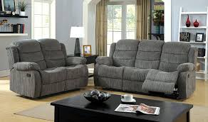 Gray Recliner Sofa Furniture Of America Chenille 2 Recliner Sofa