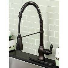 Kitchen Faucet Modern American Classic Modern Rubbed Bronze Spiral Pull Kitchen
