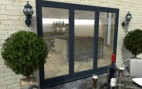 aluminium glass doors grey aluminium bifold doors climadoor external folding doors