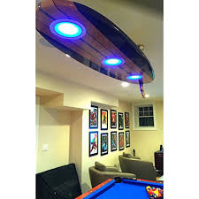 Sports Ceiling Light Surfboard Ceiling Light For Rooms Caves Bars