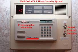 at t security system modification to user programmable autodialer