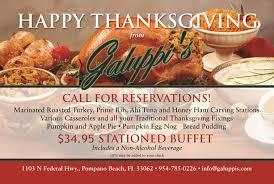 thanksgiving restaurant south florida