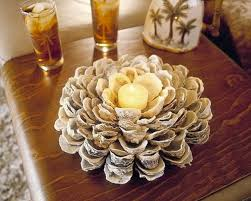 centerpiece for table creative idea innovative seashell cratft table decoration