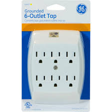 Workchoice Outdoor Grounded Outlet With by Ge 54947 6 Outlet Grounded Wall Tap Walmart Com