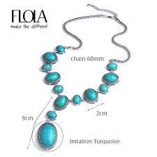 vintage blue stone necklace images Flola vintage blue stone necklaces pendants big long y necklace jpg