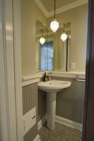 Powder Room Sink Love Corner Sinks In A Powder Room And Love Beadboard Bathroom