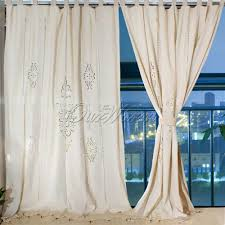 living room popular cotton tab top curtains with grey curtain and