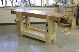 Free Simple Wood Workbench Plans by Video Roubo Workbench Tour Popular Woodworking Magazine