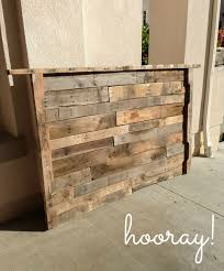 wooden pallet headboard wood pallet grey
