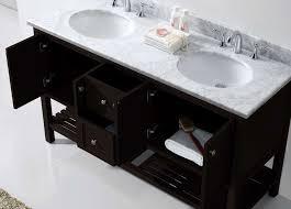 Marble Top Vanities Virtu Usa Ed 30060 Wmro Es Nm Winterfell 60 In Bathroom