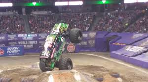denver monster truck show monster jam truck roll over breaks wheel denver colorado 2016