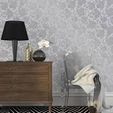 Silver Metallic Wallpaper by Tempaper Metallic Silver Silhouette Wallpaper Si514 The Home Depot