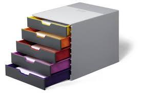 rangement bureau module de classement 5 tiroirs bloc de rangement varicolor