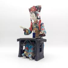 vintage glazed porcelain figurine collectibles chinese ceramic