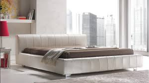 Low Bed Frames Uk Quarrata Italian Modern Leather Bed With Low Rise Headboard