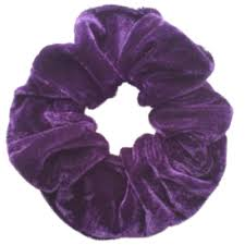 hair scrunchie purple velvet feel medium sized hair scrunchie bobble elastic hair
