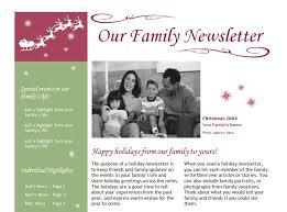 christmas newsletter template christmas newsletter in christmas