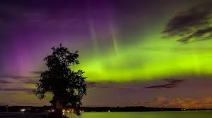 Northern Lights Football League Spectacular Northern Light Display Illuminates Finnish Sky