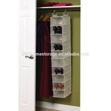 Hanging Shoe Caddy by Canvas Soft Storage Hanging Shoe Shelves Organizer With 10 Shelf