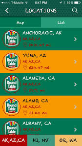 round table pizza anchorage 8 best round table pizza app images on pinterest pizza location