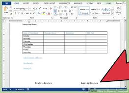 how to make a timesheet in excel how to make a timesheet with pictures wikihow