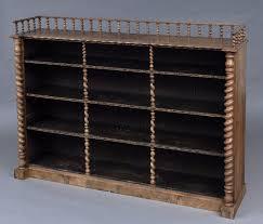 Silver Bookcase Antique English Victorian Walnut Open Bookcase