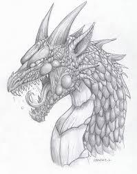 dragon sketch by lauraramirez on deviantart
