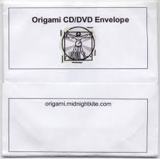 Origami Cd Cover - origami cd dvd envelope