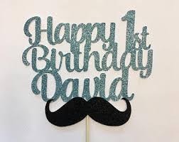 mustache cake topper mustache number 1 etsy
