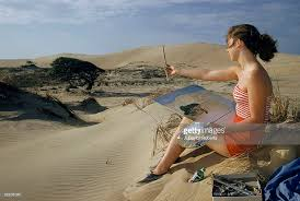 local artist paints high nags head sand dune pictures getty images