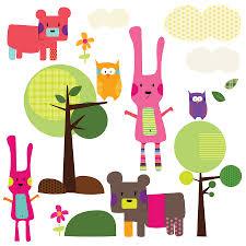 animal wall stickers woodland animal wall stickers