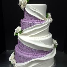 purple and white wedding purple and white wedding cake w fondant swag imgur