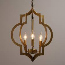 Lantern Chandelier For Dining Room by Gold Quatrefoil 3 Light Pendant Lamp Candelabra Bulbs