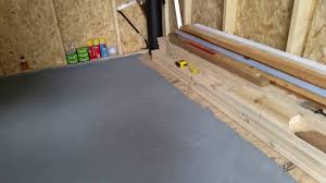 Paint Laminate Floor Painted Shed Floor Youtube