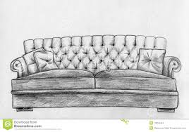 Couch Drawing Sofa Sketching Stock Photos Image 13897163