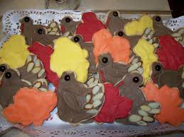 thanksgiving turkey sugar cookies food marriage