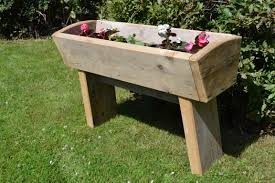 Planter With Legs by Plant Trough With Legs Glasgow Wood Recycling